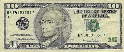 10 bill front