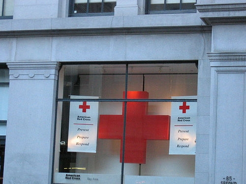 red cross window
