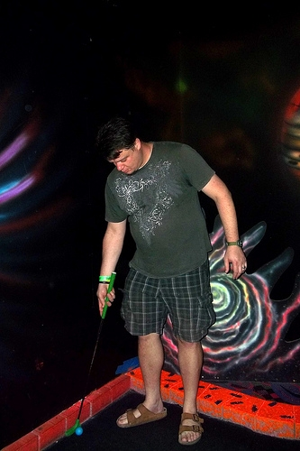 Jonathan glow golfing