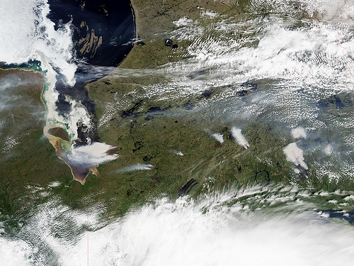 Sediment, Smoke, and Stained Ice in Quebec