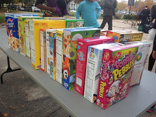 Cereal Boxes Donation Food Bank