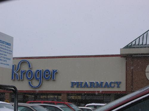 Outside Kroger