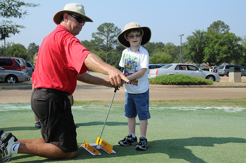 EFMP takes kids out on the greens