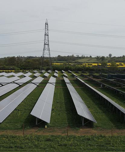 Solar farm, Sandy, Bedfordshire