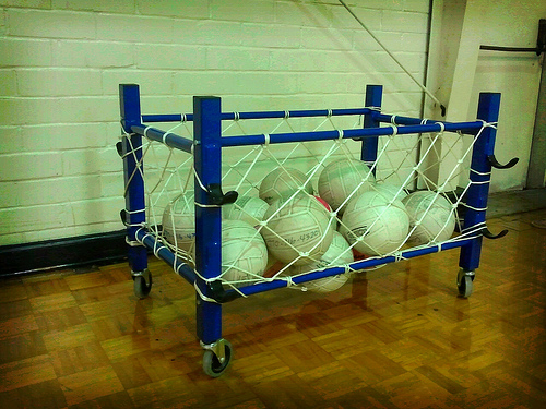DIY Netting for Volleyball Cage