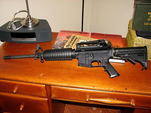 AR-15 Centerfold Shot