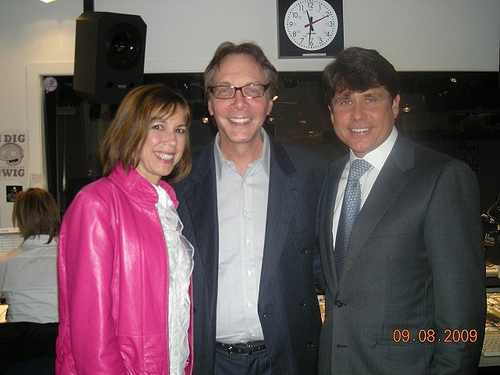 Alan Colmes with Rod Blagojevich, Patti Blagojevich