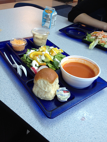 HCPS lunch tray