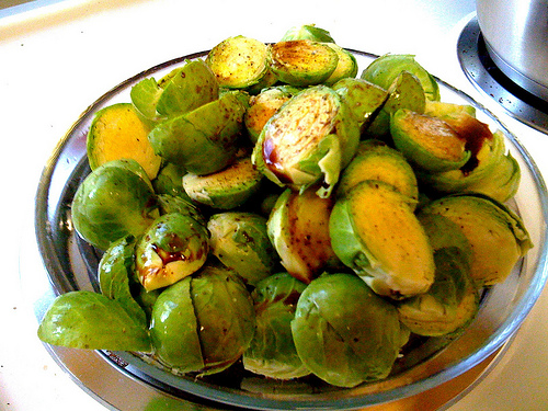 Brussels sprouts, ready to roast