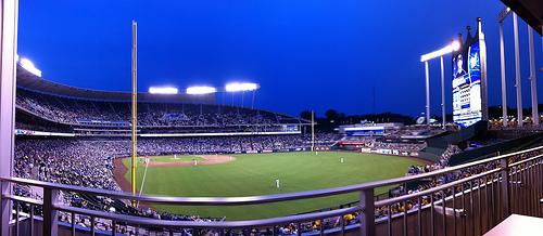 At Kauffman Stadium
