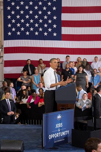 President Obama Visits Ellicott Dredges on Jobs Tour
